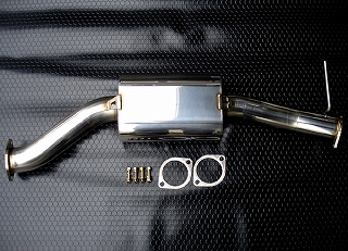 FD3S用ステンレス製80Фサイレンサー(純正触媒部交換タイプ)